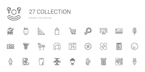 collection icons set