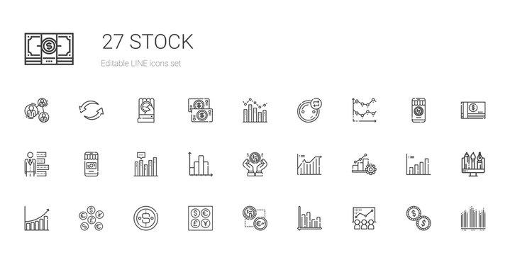 stock icons set