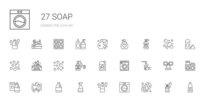 soap icons set