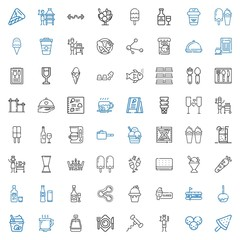 menu icons set