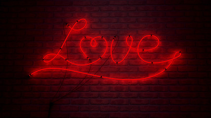 Love Leuchtschrift