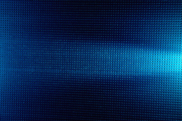 On a blue background in the point the horizontal white light beam