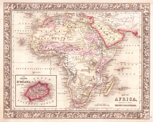 1864, Mitchell Map of Africa