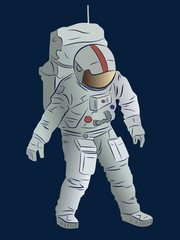 illustration of astronaut, vector drawing