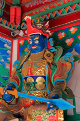 Buddhism god sculpture in the Five Pagoda Temple, China