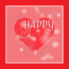 Happy Valentine's Day hand drawn lettering. Simple illustration. Holiday banner or poster design.