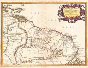 1656, Sanson Map of Guiana, Venezuela, and El Dorado