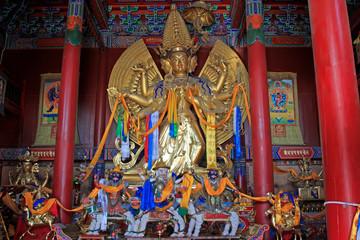 Big White Tara statue in Dazhao Lamasery, Hohhot city, Inner Mongolia autonomous region, China