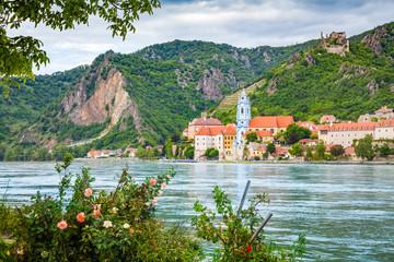 Wall Mural - Town of Dürnstein with Danube river, Wachau, Austria