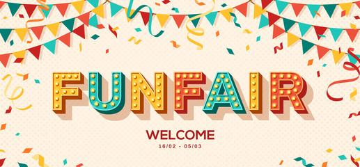 Funfair retro typography design