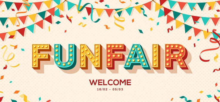 Funfair retro typography design