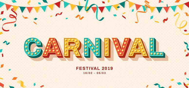Carnival retro typography design