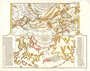 1772, Vaugondy, Diderot Map of Alaska, the Pacific Northwest and the Northwest Passage