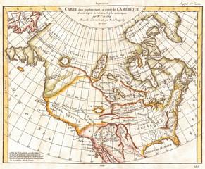 1772, Vaugondy, Diderot Map of North America and the Northwest Passage