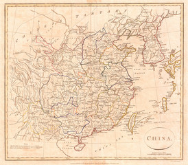 1799, Clement Cruttwell Map of China, Korea, and Taiwan