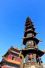 Goddess of mercy temple incense burner, Hohhot city, Inner Mongolia autonomous region, China
