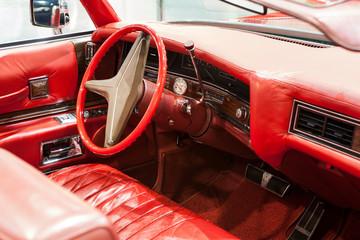 interior of a historic car