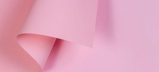 Abstract background with geometric shape pastel pink color paper