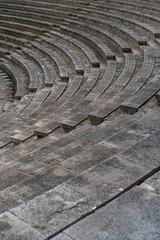 Empty grey old tribunes