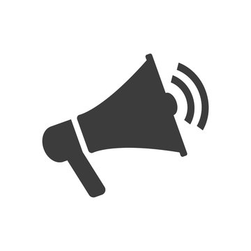 Megaphone icon on white background.