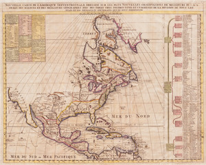 1720, Chatelain Map of North America