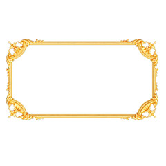 Stucco decoration, gold cartouche frame