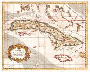 1763, Terreni, Coltellini Map of Cuba and Jamaica