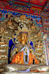 Great day tathagata statue in the Five Pagoda Temple, Hohhot city, Inner Mongolia autonomous region, China