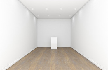 Empty Gallery Room And Plinth