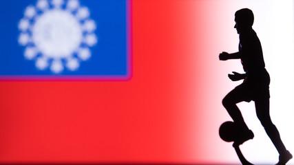 Myanmar National Flag. Football, Soccer player Silhouette