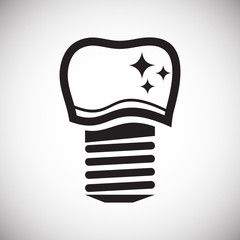 Tooth icon on white background for graphic and web design, Modern simple vector sign. Internet concept. Trendy symbol for website design web button or mobile app