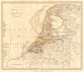 1799, Clement Cruttwell Map of Holland or the Netherlands