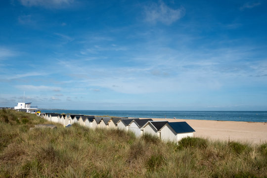 Beach houses in Ouistreham, Normandy,France