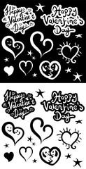 Happy Valentine' Day, set of design elements