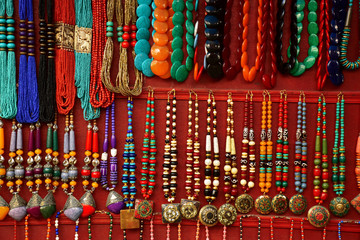 Colorful traditional necklaces