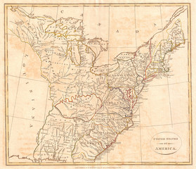1799, Cruttwell Map of the United States of America
