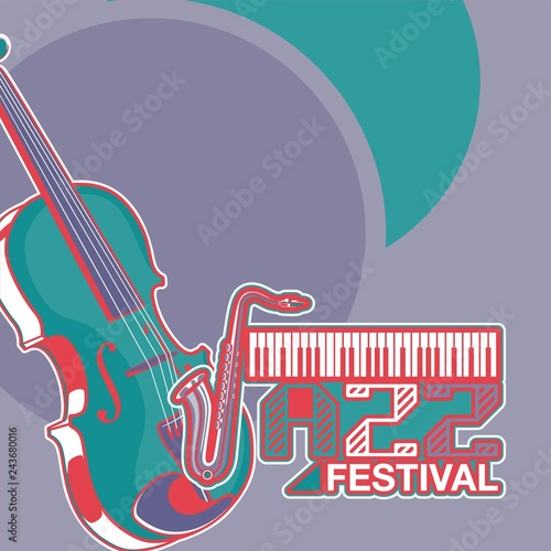 Vector poster for a live music festival with a microphone