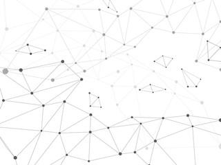 ネットワークのイメージ 白黒