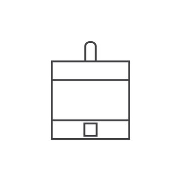 stepper motor outline icon vector design illustration