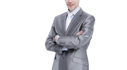 portrait of Executive businessman isolated on white.