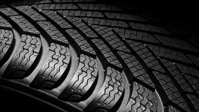 Close up tyre profile car tires