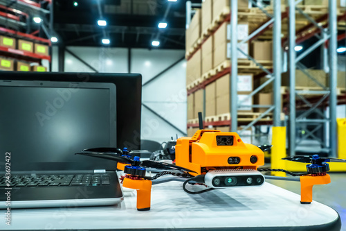 Drone  Computer  Equipment for a warehouse  Storage  Warehouse