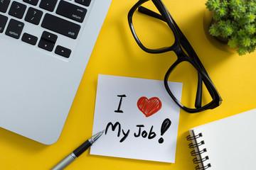 I Love My Job Concept