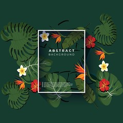 floral background - abstract logo design vector