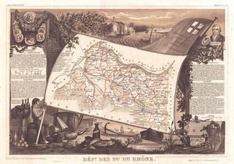 Fototapete - 1852, Levasseur Map of the Department Bes Du Rhone, France