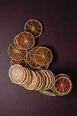 Stack of dried orange and lemon slices