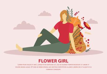 Flower Girl Flat Composition