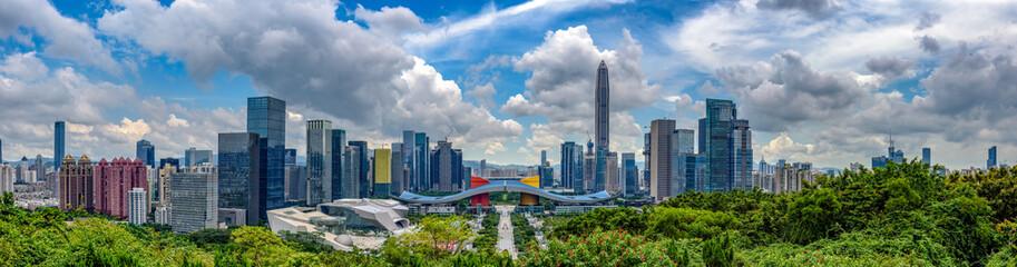 Wide panorama of Cityscape of Shenzhen, China