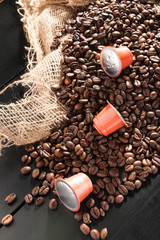 capsule with whole bean coffee
