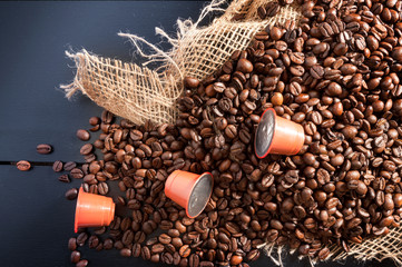 coffee capsule with grain coffee